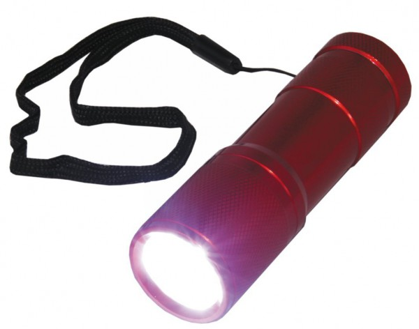 LED Taschenlampe Lampe Leuchte Taschen Lampe mit 9 LEDs Aludesign